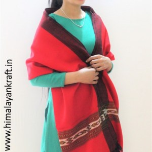 Kullu Handloom Pure Wool Hand Woven Scarf Stole for Ladies