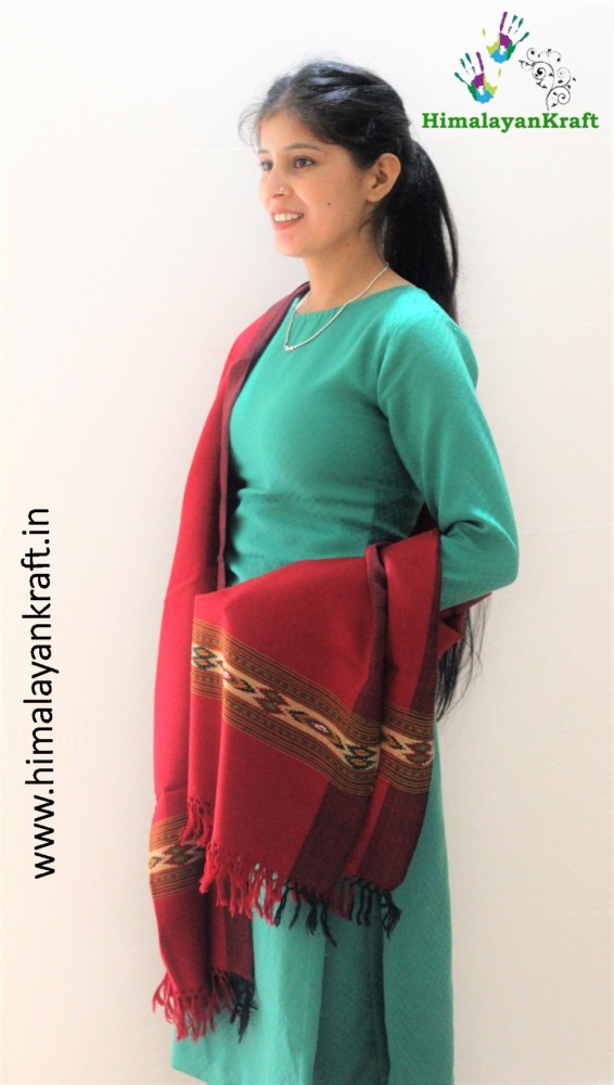 Pure Wool Stole | From World Famous Kullu Handloom-www.himalayankraft.in