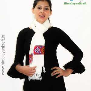 Purely Hand Woven Traditional Kullu Handloom Wool Muffler For Unisex