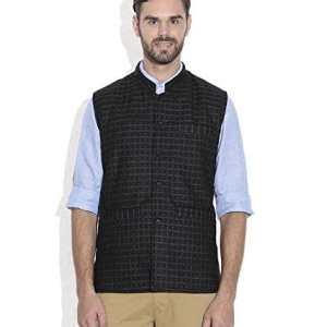 HimalayanKraft Men's Woolen Tweed Bandhgala Nehru Reversible Jacket Waistcoat