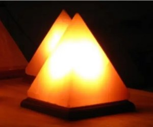 pyramid shape Himalayan salt lamps