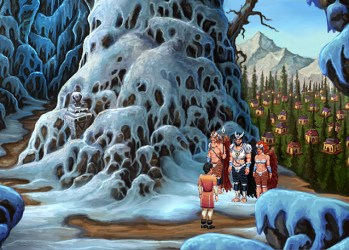 snow mountain village mountains mage games