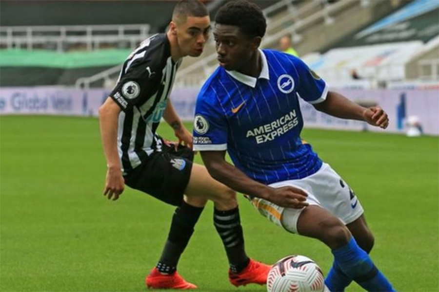 Tariq Lampte is a young star of Brighton