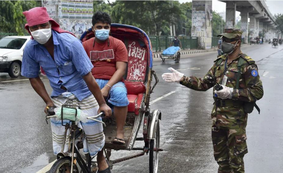 Army mobilized to enforce lockdown in Bangladesh