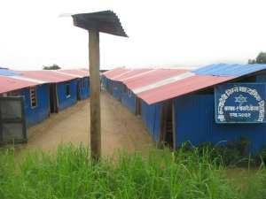 Temporary classroomsl in Pokhari