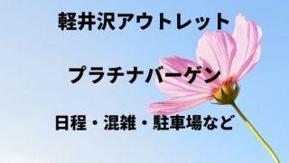 2020 軽井沢アウトレット 混雑 予想