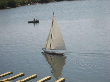 Graceful Sailing Yacht