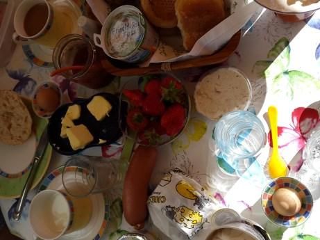 Frühstück in der Sonne