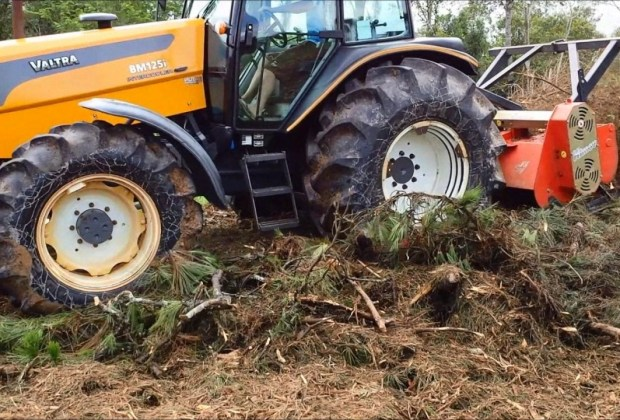 Triturador Florestal Himev Ecotritus HP240 triturando resíduos de poda de área urbana