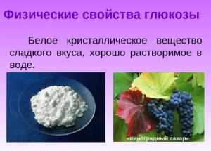 глюкоза внешний вид вещество