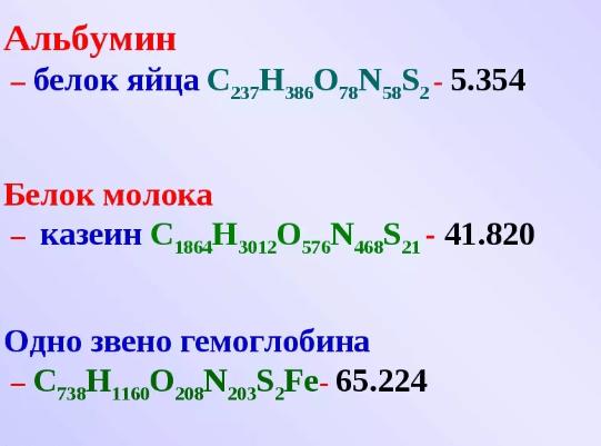 структура альбуминов