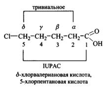 карбоновые кислоты номенклатура