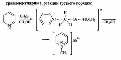 Классификация химических реакций тримолекулярные реакции третьего порядка