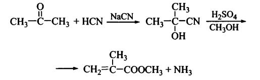 Метилметакрилат получение из ацетона