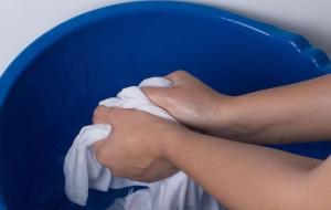 намыливание ткани