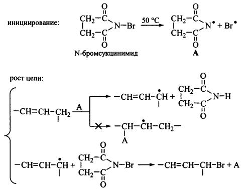 Алкены реакция радикального присоединения бромирование алкенов