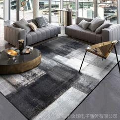 Black Kitchen Rugs 33x22 Sink 时尚简约现代抽象中式水墨黑灰色卧室厨房门垫客厅地垫地毯定制 价格 场景图 3
