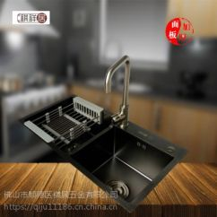 Black Sink Kitchen Pantry Organizers 广东顺德祺祥居不锈钢纳米黑金刚手工盆厨房水槽8245 价格 厂家 中国供应商