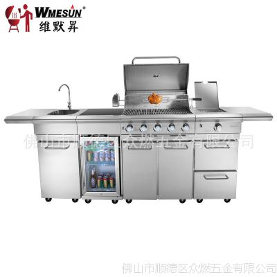 kitchen grills how much is a remodel 户外厨房别墅庭院烧烤架烧烤炉冰箱烧烤炉不锈钢304烤炉 洗手冰箱 价格