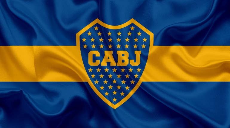 boca-juniors-4k-logo-creative-art-checkered-flag-himnode.com