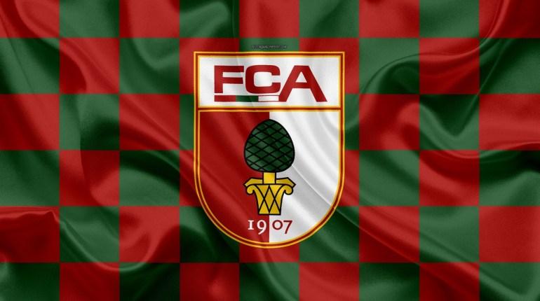 augsburg-fc-4k-logo-creative-art-red-green-checkered-flag-himnode.com-letra-lyrics