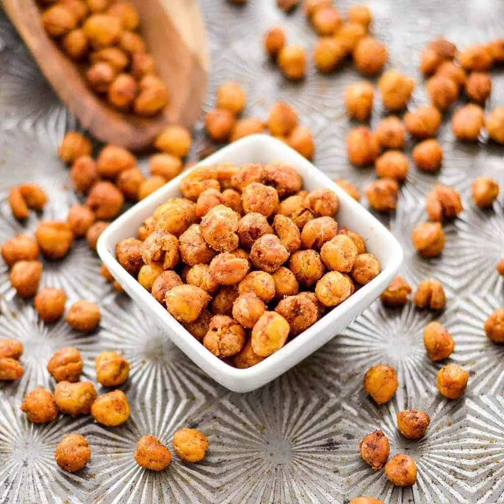 recipe for roasted chickpeas snack