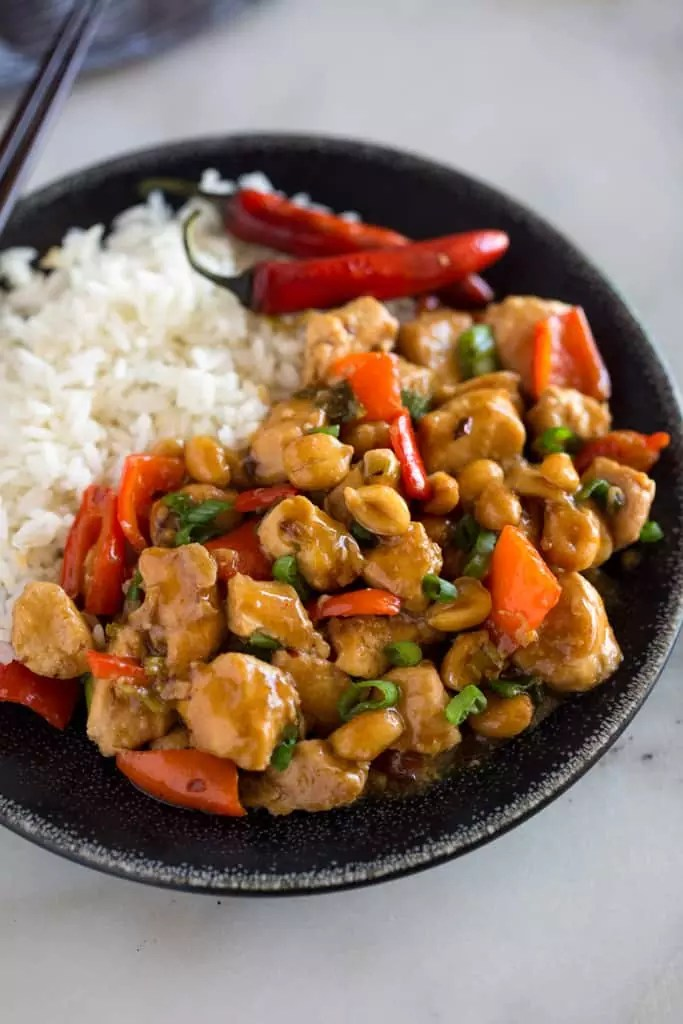 easy Kung Pao Chicken Recipe with rice