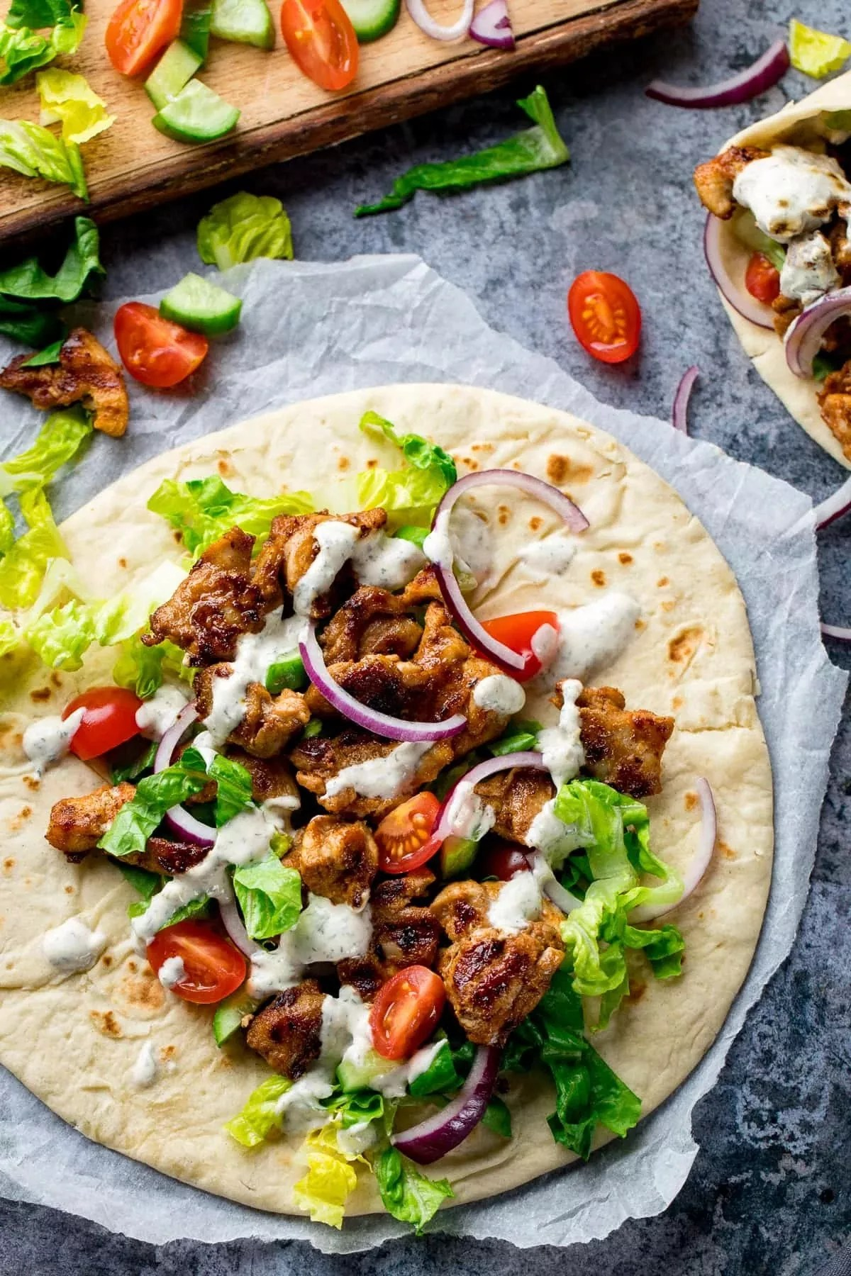 Chicken Shawarma Wrap Recipe Indian