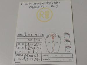 ヤノスポーツ 靴サイズ診断結果
