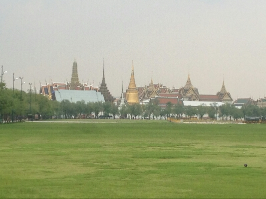 Bangkok with its typical pollution