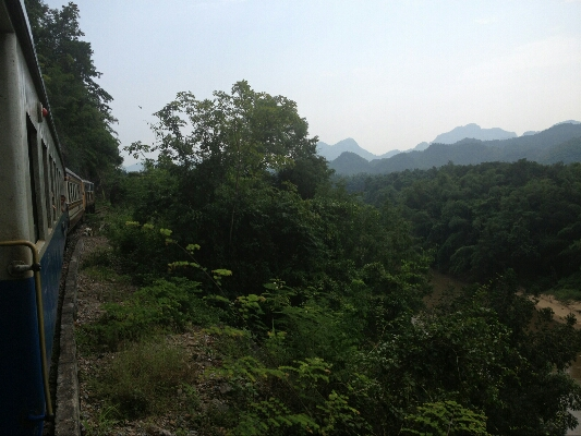 Scenery along the Nam Tok Rail journey
