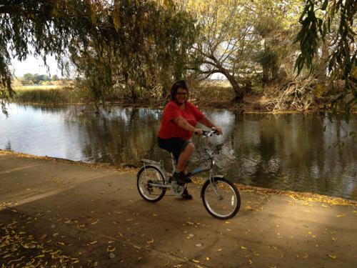 Cycling around Lake Wendourie, Ballarat