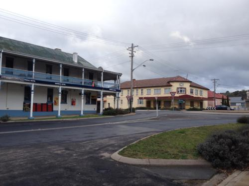 Two of the four hotels in tiny Bombala.
