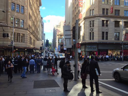 There was never a shortage of people on the streets of Sydney.