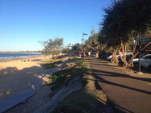 The beach front at Mooloolaba