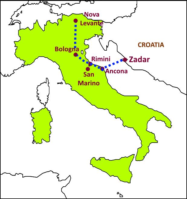 Bologna Rimini San Marino and Ancona Italy 2017 hinchyorg