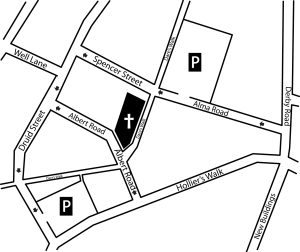 Plan showing one way streets