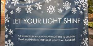 Banner saying Let Your Light Shine