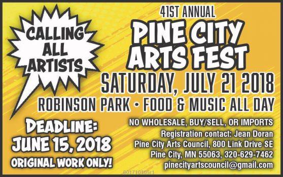 poster Art Fest Pine City MN