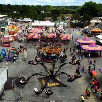 Pine County Fair spider ride image