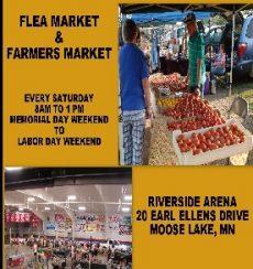 Flea market and Farmers Market in Moose Lake MN