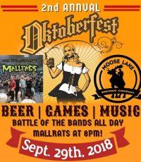 Oktoberfest at Moose Lake Riverside Arena poster by Moose Lake Brewing