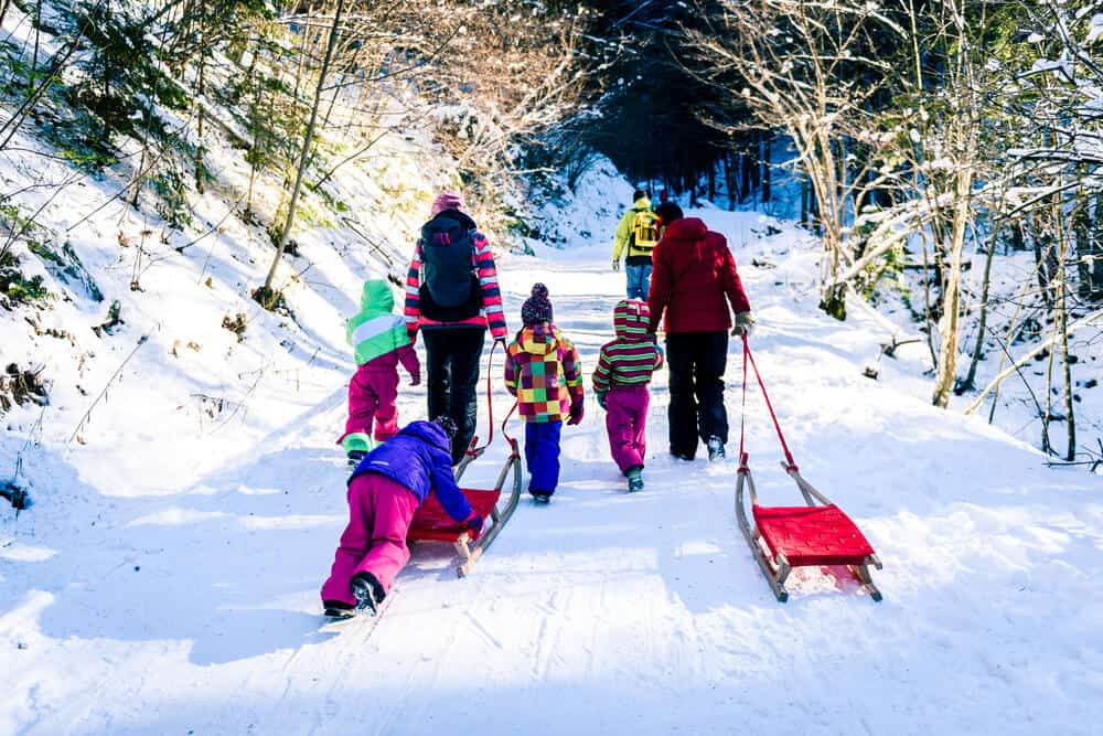 Winter fun with family