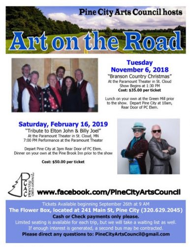 Art on the Road 2019 Pine City Arts Council
