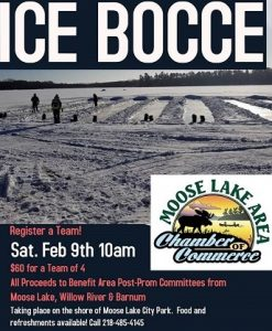 Ice Bocce at Moose Lake shore