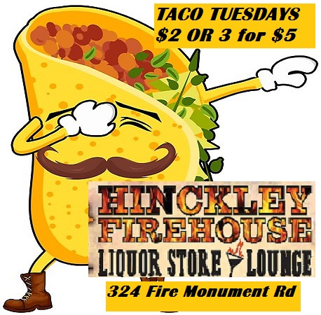 Taco Tuesdays at Firehouse Liquor Store and Lounge HInckley MN