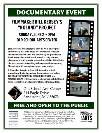OLd School Arts Center presents Filmmaker Bill Kersey's Koland Project