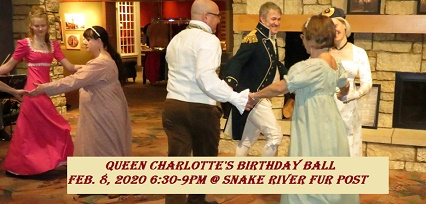Queen Charlotte Ball at Snake River Fur Post 2020