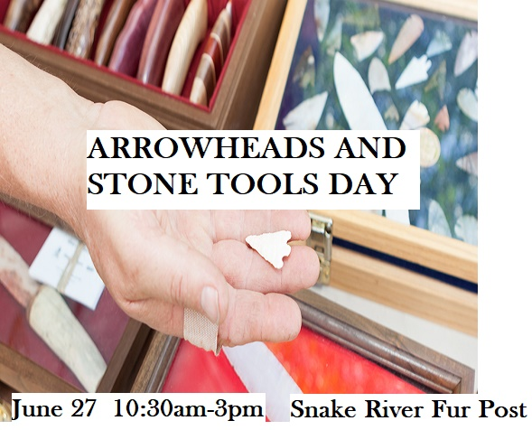 Tools Arrowheads demo at Snake River Fur Post Pine City