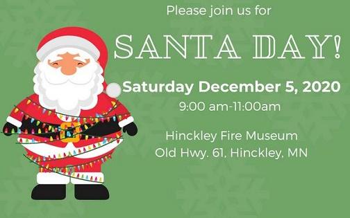 Mn Christmas Events 2020 Santa Day   Hinckley Convention & Visitors Bureau